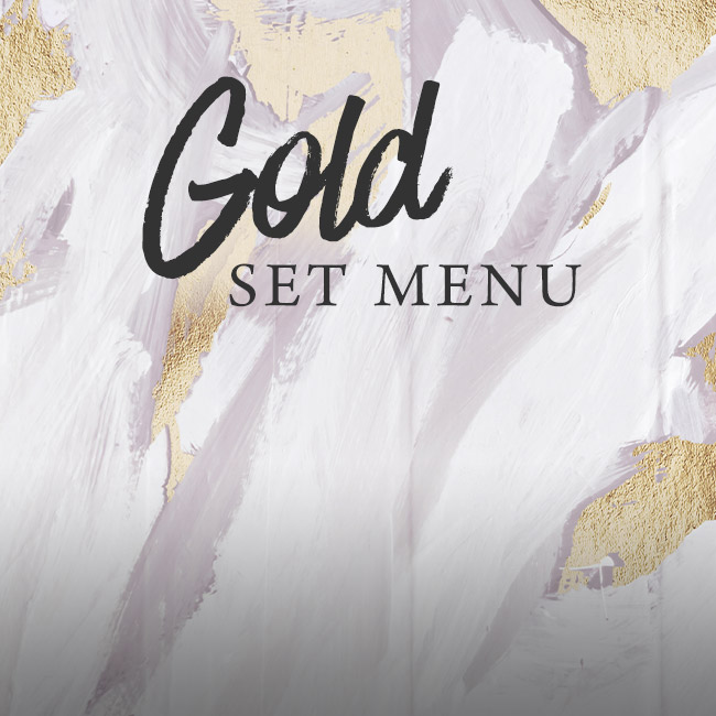 Gold set menu at The Botanist Bristol