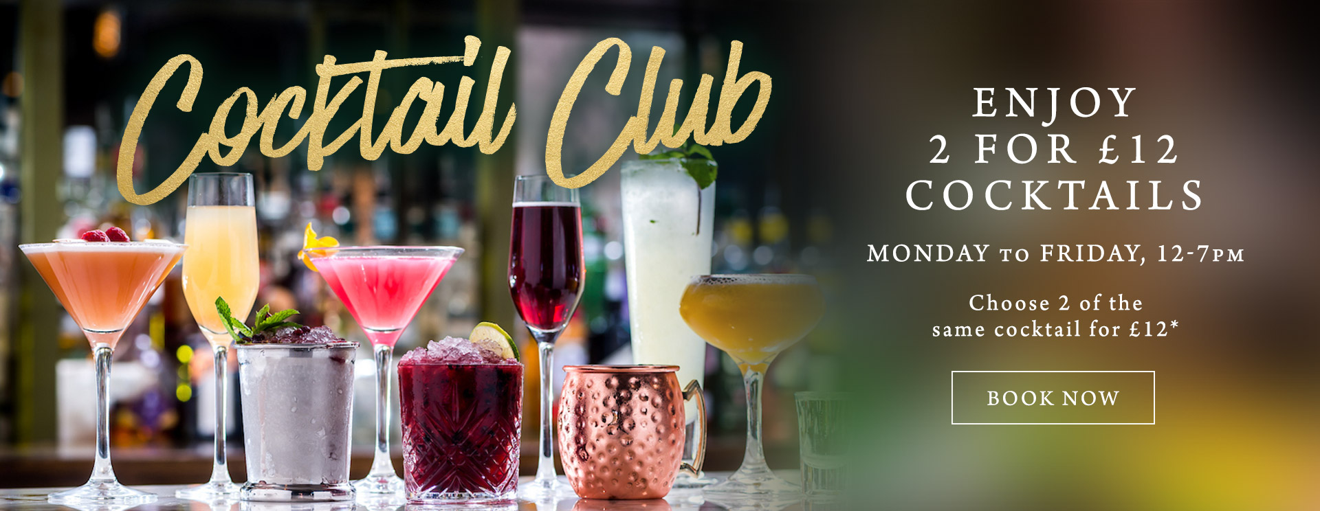 2 for £12 cocktails at The Botanist Bristol